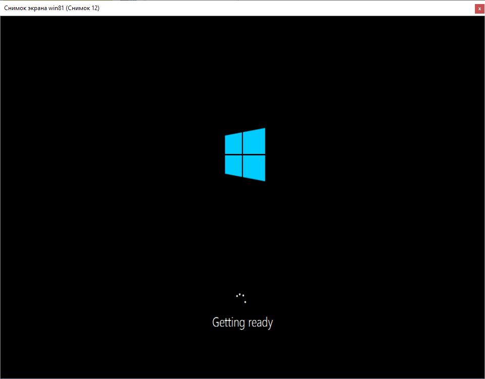 Продолжение установки Windows 8.1